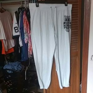 See-through pajama pants